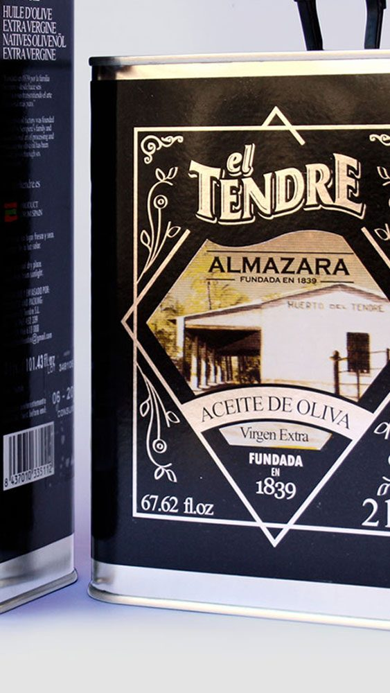 Diseño Packaging Almazara El Tendre