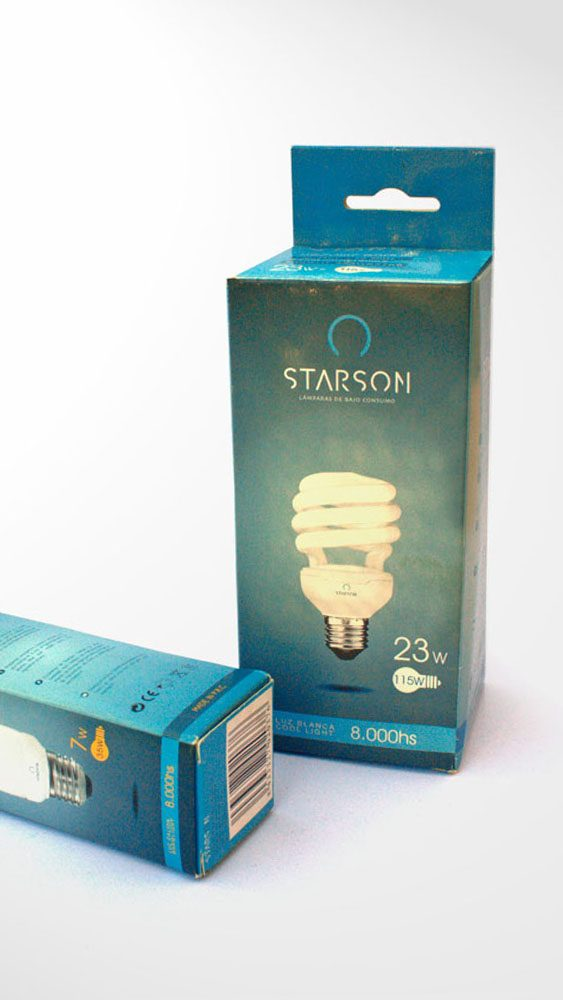 Diseño Packaging Starson Lamparas